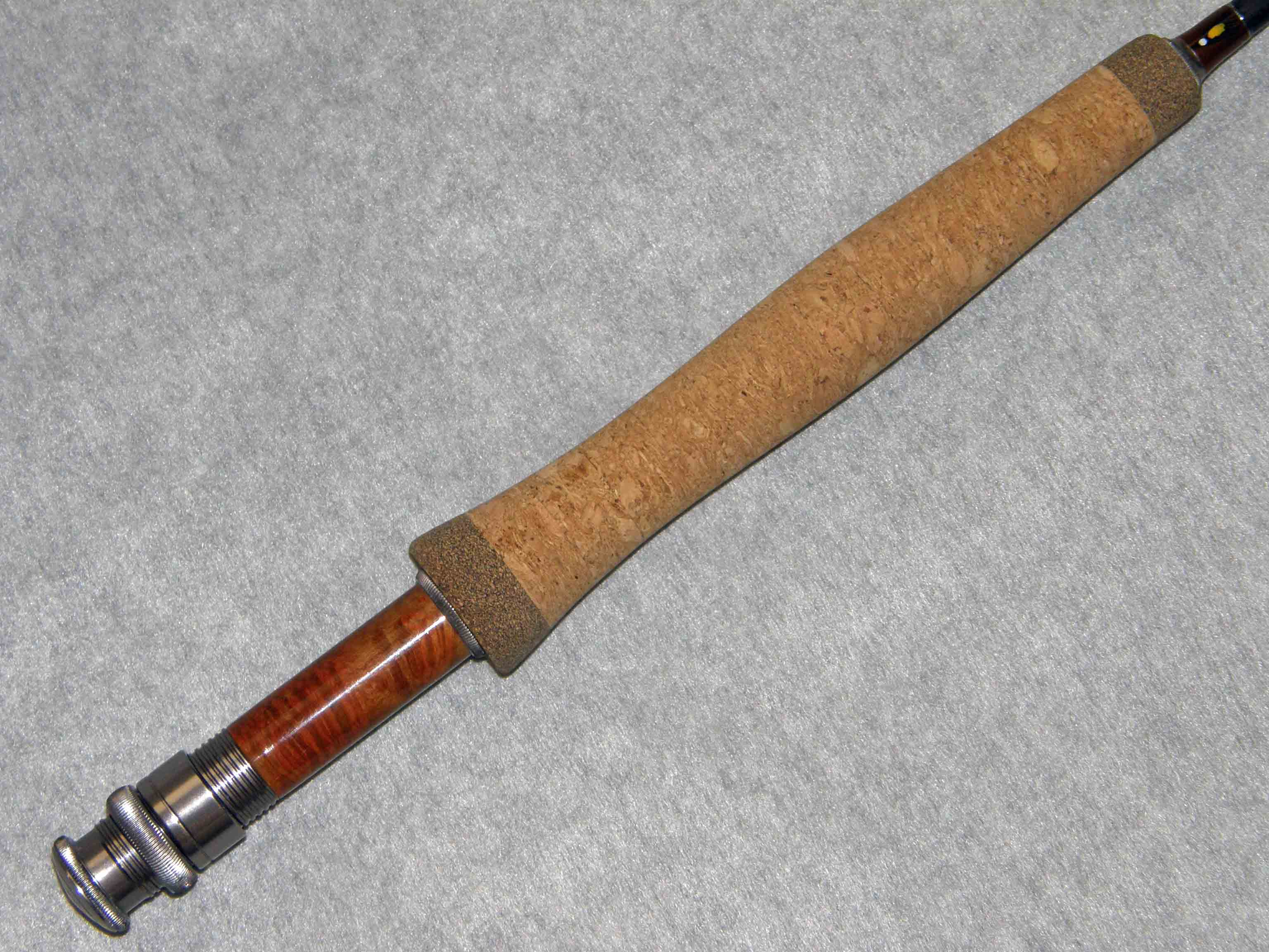 Fly rod half wells grip